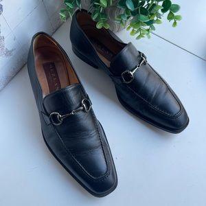 MEZLAN🍁🍂Black leather loafers Sz 8